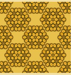 yellow mosaic background geometric seamless vector image