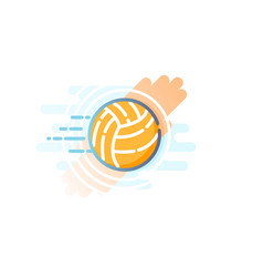 Yellow volleyball ball eps 10 vector