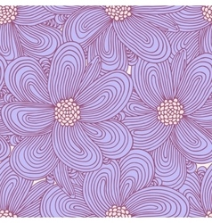 Doodle flowers seamless pattern Floral textile vector image vector image