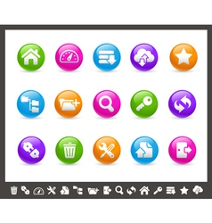 FTP and Hosting Icons Rainbow Series vector image vector image