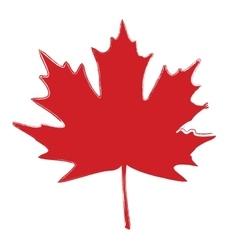 Grunge Brushed Leaf vector image