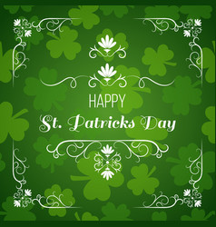 saint patrick s day greeting card design vector image vector image