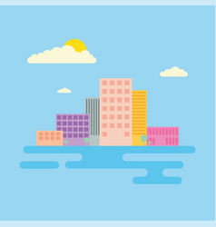 Set of urban landscape and city life vector