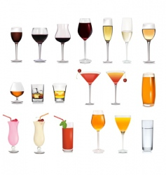 super collection of glasses vector image vector image