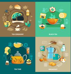 tea design concept vector image