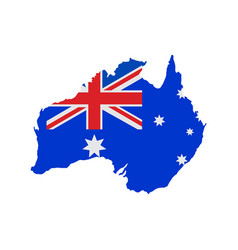 australia map with flag vector image vector image