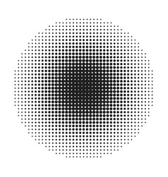 halftone round dots stamp vector image