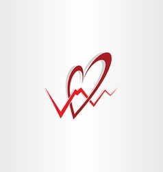 human heart medical cardiology logo vector image
