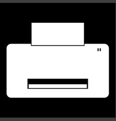 printer it is the white color icon vector image vector image
