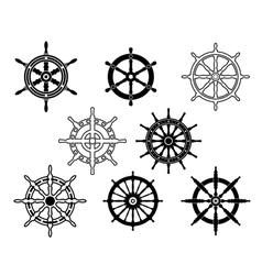 Steering wheels set for heraldry design vector image vector image