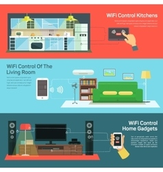 Technology wireless control on kitchen light vector