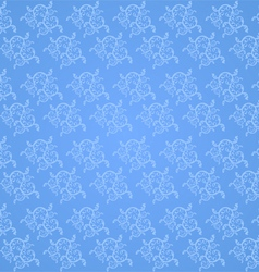 Beautiful vine pattern on a blue background vector