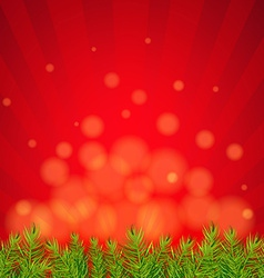 Happy Xmas Border With Red Sunburst vector image vector image