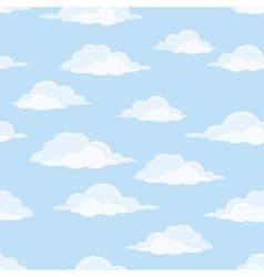 Sky with clouds seamless vector image