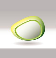 virtual pebble green vector image vector image