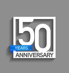50 years anniversary logotype with white color vector