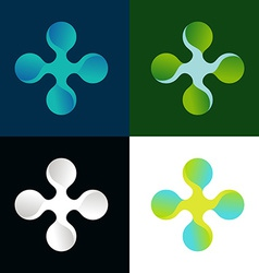 Abstract logo in different colors vector