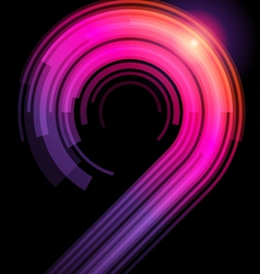 abstract technology curves vector image