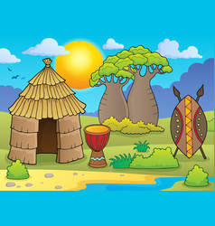 African thematics image 2 vector