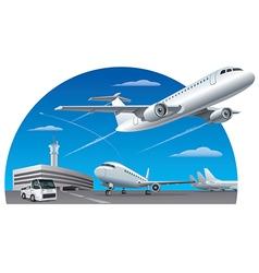 Airport field vector