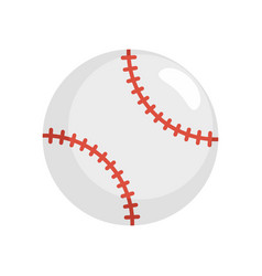Baseball ball icon flat style vector