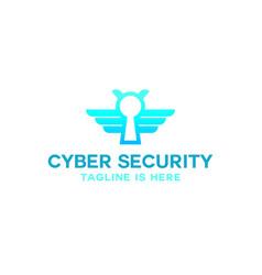 bee cyber security logo vector image