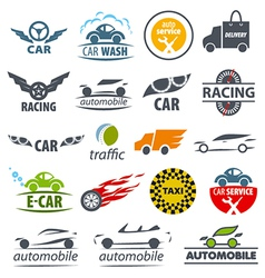Biggest collection logos Car vector