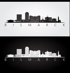 bismarck usa skyline and landmarks silhouette vector image