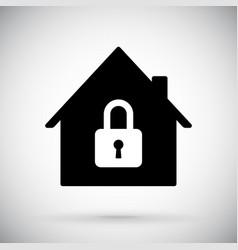 Black house icon closed account symbol vector