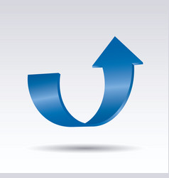 blue arrow 3d graphic element for web and design vector image