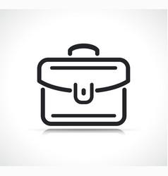 briefcase or suitcase line icon vector image
