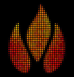 bright dotted fire icon vector image