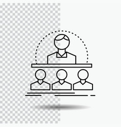 Business coach course instructor mentor line icon vector