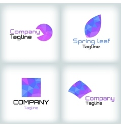 Business icons set Logo design vector image