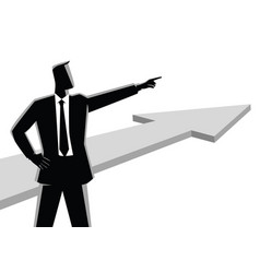 Businessman pointing finger vector