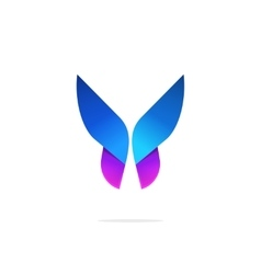 Butterfly colorful logo template with gradient on vector image