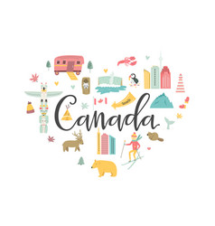 canada cartoon banner travel vector image