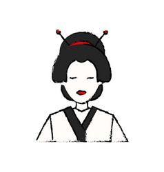 character japanese girl geisha traditional vector image