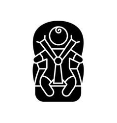 Child transportation black glyph icon baby vector