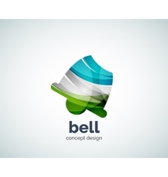 Christmas bell logo template vector