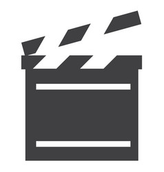 Cinema flap icon vector