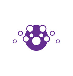circle bubble business logo vector image