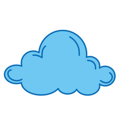 cloud sky isolated icon vector image