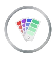 Color swatches icon in cartoon style isolated on vector