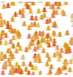 colored random pine tree background - winter vector image