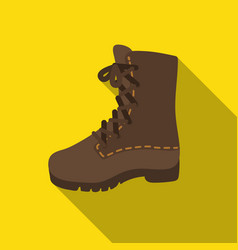 combat boot icon in flat style isolated on white vector image