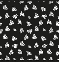 diamonds seamless pattern pattern with vector image
