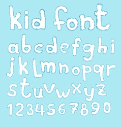 Doodle kid abc typeset vector image