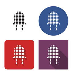 dotted icon diode in four variants with short vector image