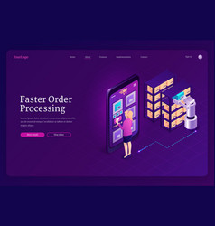 Faster order processing robotic automation vector